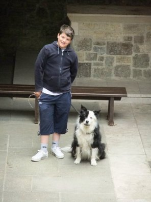 boy-and-dog-at-glastonbury-abbey
